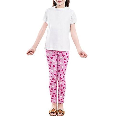 Pantalons Enfants, Malloom Pantalons enfants Impression des jambières Fleurs Enfants