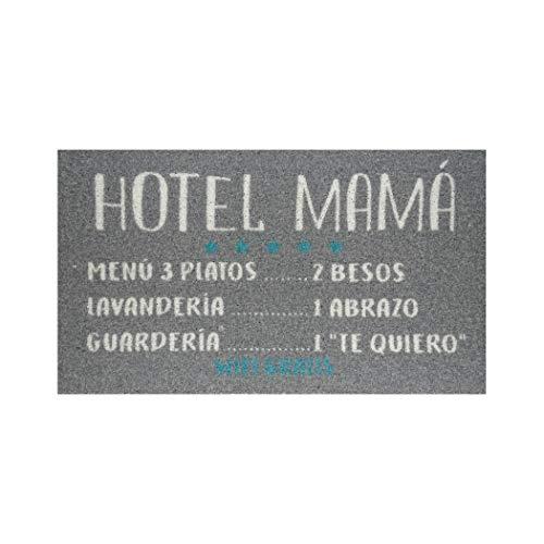 koko doormats Felpudo para Entrada de Casa Hotel Mamá Original y Divertido/Nylon con Base de PVC, 70x40 cm, Color Gris Oscuro