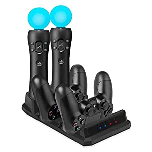 PS VR Controller Charger – Keten Ladestation für PlayStation 4 Controller und PS VR Move Motion Controller[Altes Modell…