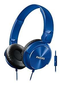 "Philips Casque avec Micro SHL3065BL/00 - casques et micros (Binaural, Bandeau, Bleu, Avec fil, 1500 mW, 3,5 mm (1/8""))"