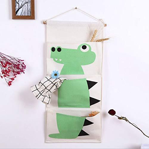 ZYJ Wandbehang Aufbewahrungstasche, Cartoon über der Tür Wand Stoff Aufbewahrungstasche Schrank hängen Tasche Veranstalter für Kinderzimmer,C