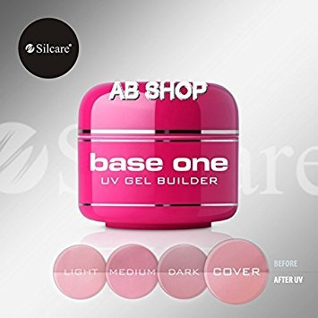 Base Cover (Base One Cover 50g UV Gel Nails Camouflage Builder File Off Gel Silcare)