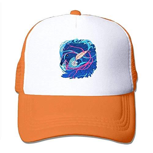 WYICPLO Fashion Baseball Caps Hats Winterfell Raven Stylish Mesh Trucker Hat Adjustable Snapback Baseball Cap (Cap Ravens Xxl)