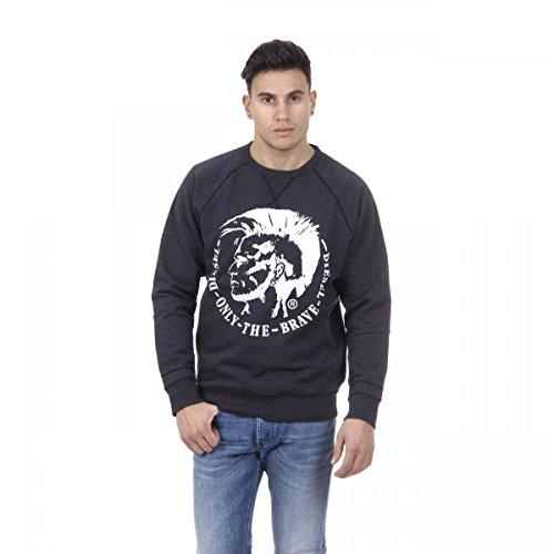 Diesel Pullover (Diesel Herren Sweatshirt Blau marineblau S)