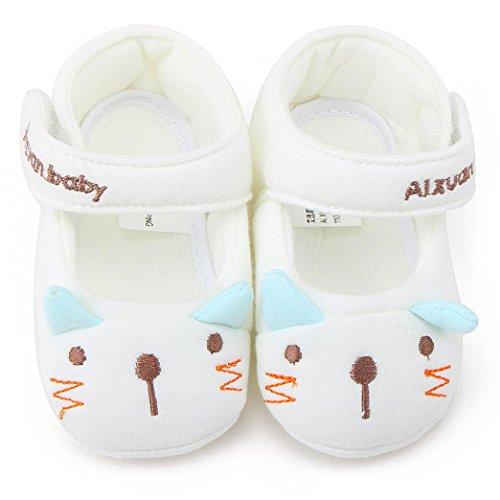 IGEMY Bébé Fille Garçon Chaussures de sport en coton antidérapant Soft Sole Cartoon Beige