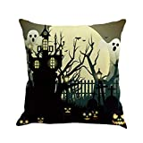 SEWORLD Happy Halloween Kissenbezüge Leinen Sofa Kissenbezug Home Decor H