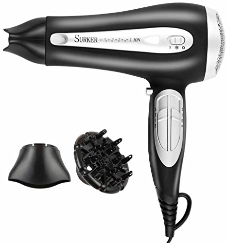 Surker® DW-728I Professional Hair Dryer with Diffuser 2200W