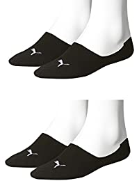 4 pair Puma Footie Invisible Socks Gr. 35 - 46 Unisex, Farben:200 - black, Socken & Strümpfe:43-46