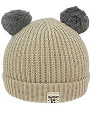 Cappelli di Moda per Neonati Cappelli di Lana per Bambini a Maglia Rotonda  Calda Confortevole Cappelli 63a140b2763f