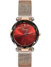 RORIOS Moda Mujer Relojes de Pulsera Cielo Estrellado Magnética Mesh Band  Dial Relojes de Mujer 0e7eb98a329d