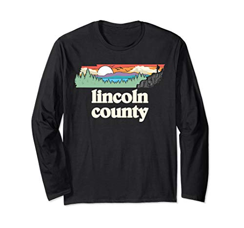Lincoln County Tennessee Outdoors Retro Nature Graphic Langarmshirt