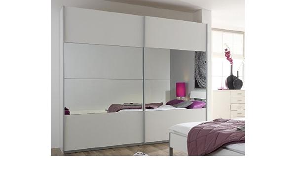 Rauch M/öbel Cupboard Alpine White Glass Shelf Black H/öhe 210 cm