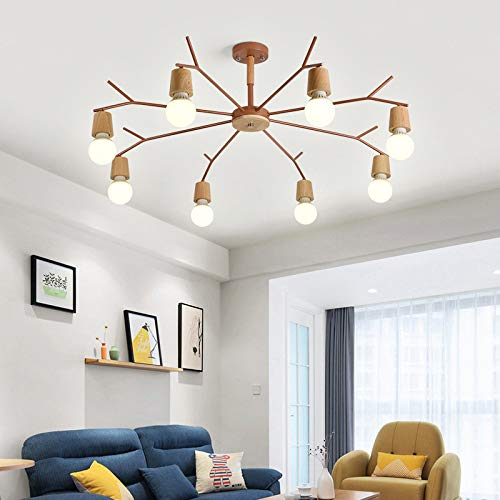 Restaurante dormitorio individual lámpara luz 8 oro