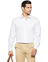 Amazon Brand - Symbol Men's Checkered Regular Fit Cotton Formal Shirt