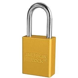 American Lock A1106YLW Padlock Keyed, Aluminum, Yellow