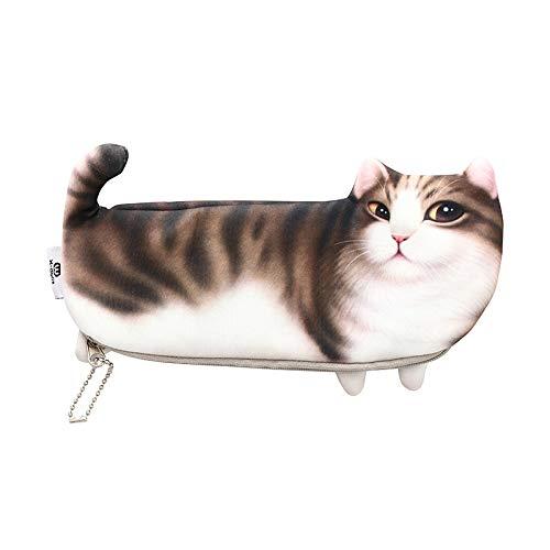 ��Kreative Süße Simulation Katze Bleistiftbeutel Druck Katze Student Kosmetiktasche GeldbörseMarionette Katze ()