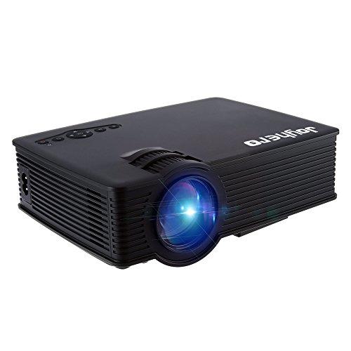 Joyhero Mini Proiettore GP - 9 Videoproiettore Portatile 2000 Lumens 1920 x 1080 Pixels Multimedia FullHD LCD per Videogame TV Cinema Party Home Theater Entertainment (Nero)