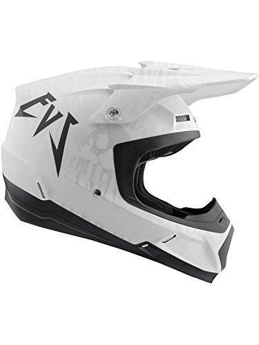 EVS Matte Weiß 2018 T5 Evilution Mx Helm (Medium, Weiß) (Evs Helm)