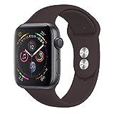 SLJIU Bracelet De Montre Bracelet en Silicone pour Apple Watch Bande 42Mm 4 3 pour Iwatch Bande 38Mm 44Mm 40Mm Bracelet Montre...