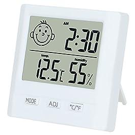 Dekool Igrometro Termometro Digitale, Monitor Umidità da Interno, Temperatura Digitale, Stazione Meteo con Espressione…