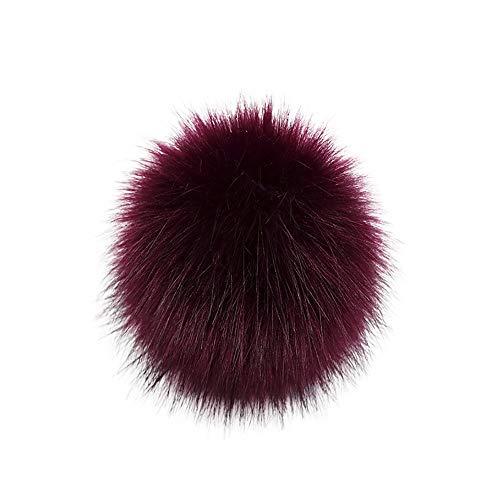 Y56 DIY Pompon Kunstfell Faux Kunstpelz Pom Pom Ball Kunstfellbommel für Stricken Hüte Zubehör Bommelmütze Schlüsselanhänger Bommel mit Anstecknadel Pelzbommel Fellbommel Pompon (A)