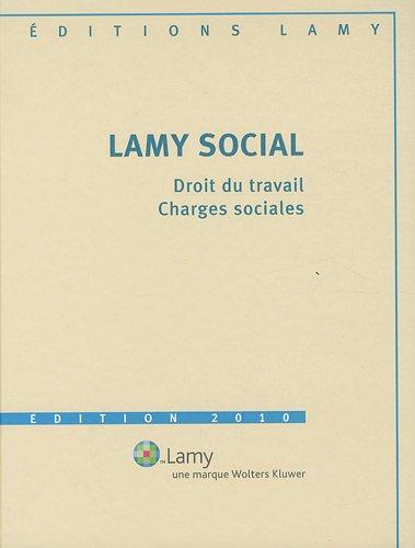 Lamy social : 3 volumes (1Cédérom)