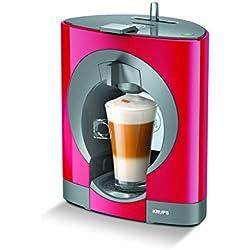 Krups Oblo KP1105 - Cafetera Nestlé Dolce Gusto de 15 Bares de Presión y 1500 W de Potencia con Depósito de 0,8 L, color Rojo