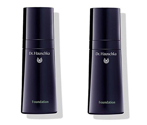Dr.HAUSCHKA - Foundation 04 Hazelnut 2 boîtes de 30 ml, base Trattante, coprenza vivificante, hydratation et protection de la peau