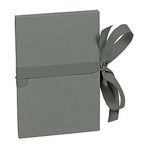 Leporello A5 gris anthracite +++ 6 feuilles de pages résistantes de haute qualité +++ PETIT ALBUM pour ENCOLLER DES PHOTOS +++ qualité originale Semikolon