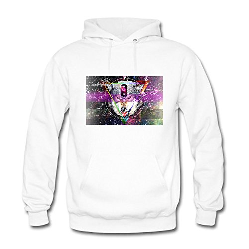 Women's Pullover Milky Way Dog Nebula Print Stylish Hooded Sweatshirt D