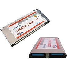 Kalea Informatique - Tarjeta de controlador (Express Card, 34 mm, 2 puertos USB 3.0)