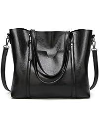 Mrs Duberess Women's Ladies Satchel Handbag Totes Top Handle Bags Pu Leather Shoulder Handbags - Black