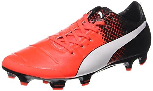 Puma Evopower 2 3 Fg, Chaussures de Football Amricain Homme Red Blast/Bianco/Nero