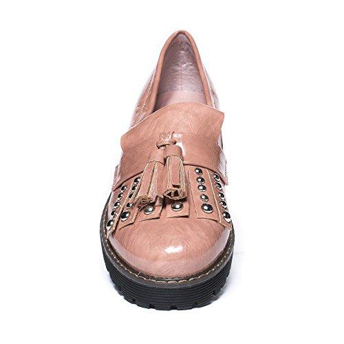 Chaussures Idéales, Mocassin Femme Rose