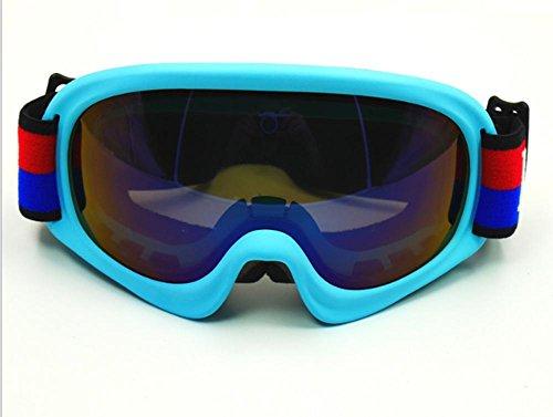 LZH Ski Goggles Double Layers UV400 Anti-Fog Big Ski Maske Gl?ser Skifahren M?nner Frauen Snow Snowboard Schutzbrillen , sky blue