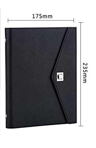MNII fashion simple business business notebook notepad three copies of the custom can be printed LOGO17.5 * 23.5cm , black (a5 medium)- learning