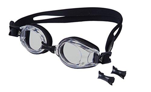 bf1d9fc76d8a1e Aqua-Speed Men s 5908217651617 Dark Tinted Lens Lumina Optical Swim Goggle,  Black, One