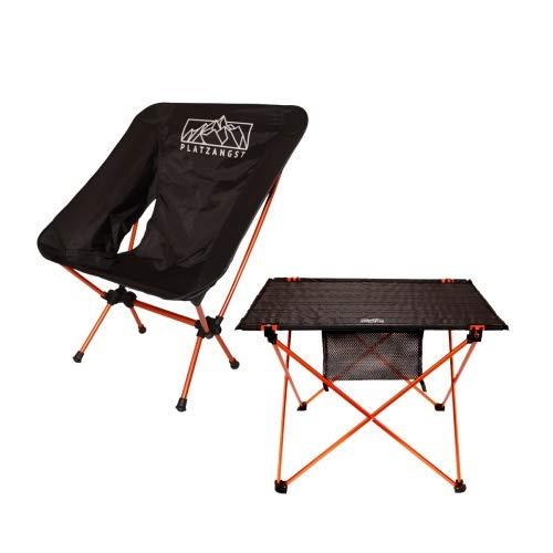 platzangst Camping Set Aluminium Ultraleicht 2er Set Stuhl Tisch