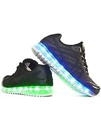 Envio 24 Horas Usay like Zapatillas LED Con 7 Colores Luces Carga USB Negro Hombre Mujer Unisex R Talla 36 hasta 41 Envio Desde España