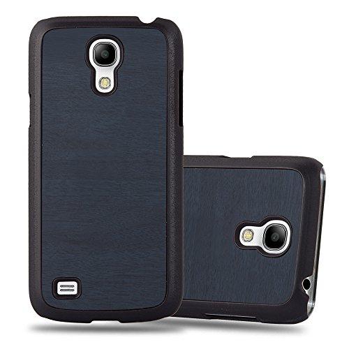 Preisvergleich Produktbild Cadorabo Hülle für Samsung Galaxy S4 Mini - Hülle in Woody BLAU – Hardcase Handyhülle in Vintage Holz Optik - Schutzhülle Bumper Back Case Cover