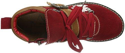 Andrea Conti - 0614298021, Stivaletti Donna Rosso (Rot (rot)
