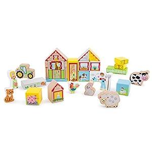 New Classic Toys 10820 Bloque de construcción de Juguete - Bloques de construcción de Juguete, Madera, Plaza, Imagen, Cúmero, Niño, Niño/niña