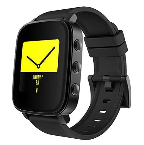 Joyeer Smart Watch Activity Tracker Rappel d'appel Message Notification Wristband Monitor de fréquence cardiaque Alerte sédentaire Sleep Monitor Selfie Multiple UI Smartband pour IOS Android , black
