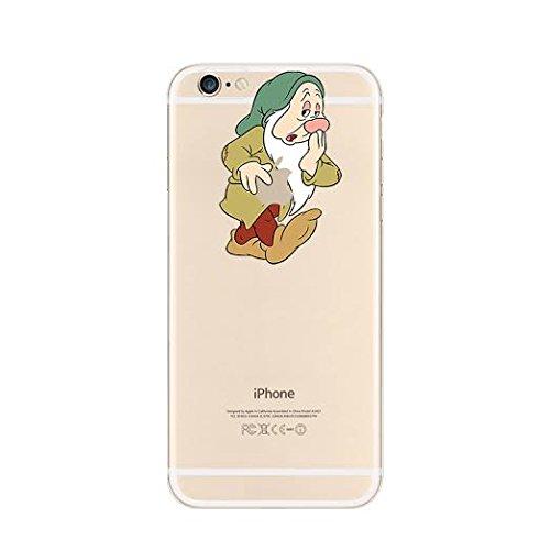 New Disney Seven Dwarfs Clear TPU Soft Case For Apple iPhone 7 SEVEN DAWRF SLEEPY