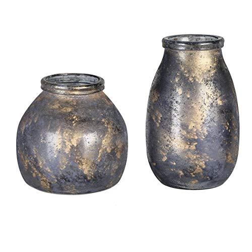 Casablanca Vase Marrakesch dk.blau/goldfarbenH.27cm