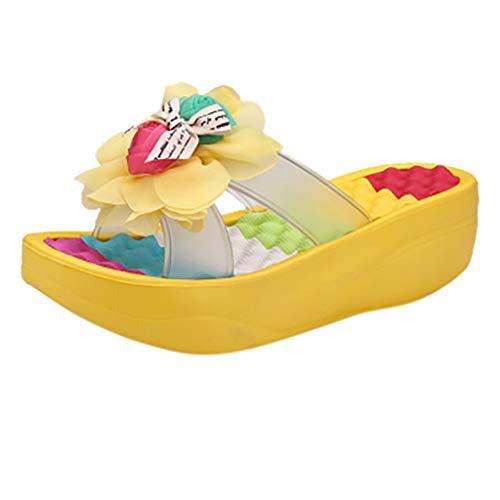 Plateau Keilabsatz Sandalen Damen Sommer High Heels Schuhe Spangen Slingback Peeptoe Frauen Schnüren Mid Blockabsatz Leder Outdoor Sandalette Mid-heel-slingbacks