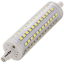 ALOTOA R7S Ampoule à LED Réglable, Haute Luminosité, 1100LM 6000k Lumière Blanche Froide, 2835 SMD, Non Scintillement, 118mm Double Terminé, Remplacement d'Ampoule Halogène de Tungstène, AC85-265V, 360 Degrés Angle de Faisceau R7S Lampe de base(10w, cool white)