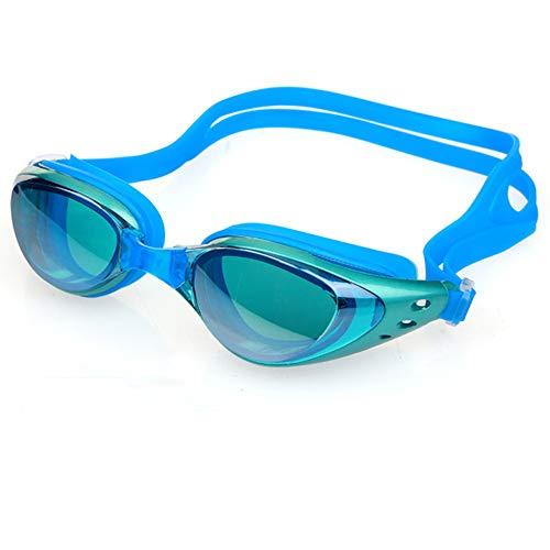 ZhaoZC Schwimmbrille Anti-Fog und Anti-Uv Belt Free Schutzhülle für Männer und Frauen Jugend wasserdicht Sonnenschutz,F (Sonnenbrillen Nike Jugend)