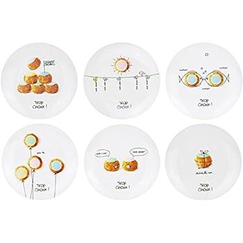 À Coffret De Dessert Les 6 Assiettes Porcelaine Bonbons Assorties DHIE2W9