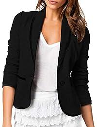 be1850d1324ca Amazon.es  Negro - Chaquetas de traje y blazers   Trajes y blazers  Ropa